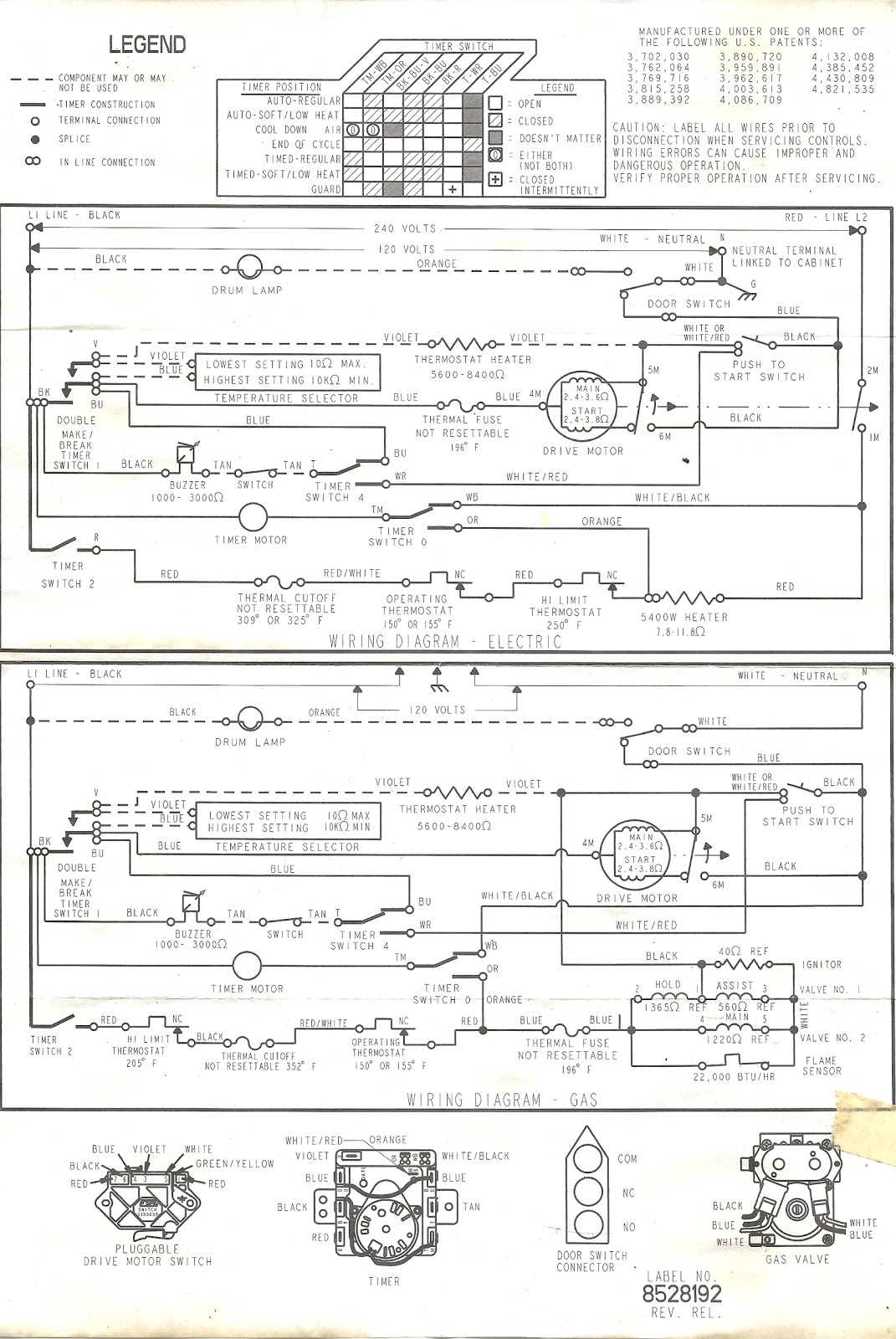 Appliance Talk: Wiring Diagram for a Kenmore Dryer - Full Wiring Schematic | Whirlpool Wiring Schematic |  | Refrigerator in the Garage
